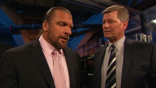 [WWE COO Triple H Talks to EVP of Talent Relations, John Laurinai]