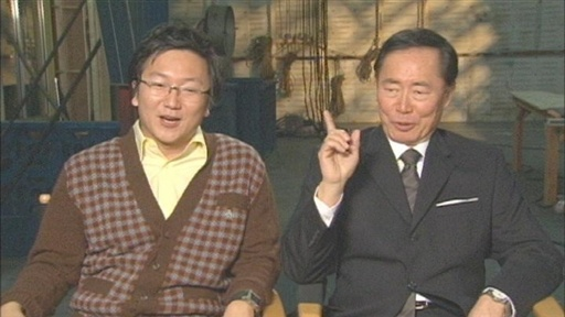 [Masi Oka and George Takei]