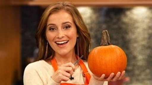 Candace Bailey Carves Pumpkins for Halloween Video