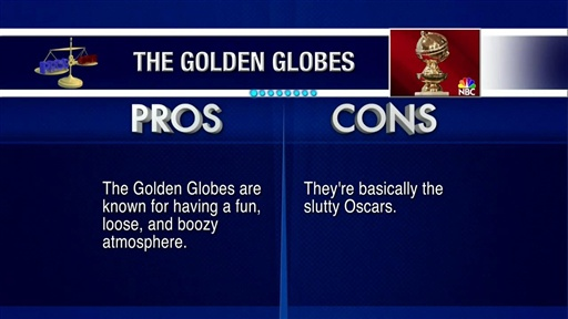 [Pros and Cons: Golden Globes]