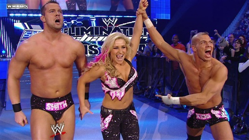 [Maria, Matt Hardy, & the Great Khali Vs. the Hart Dynasty]