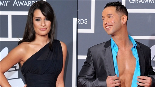 [2010 Grammys Red Carpet: Lea Michele & 'the Situation's' Italian]