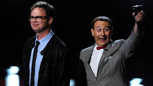 [Backstage at 2011 Scream Awards: Rainn Wilson Talks Presenting t]