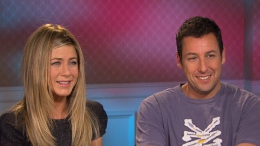 Jennifer Aniston & Adam Sandler Talk Working With Brooklyn Decke Video
