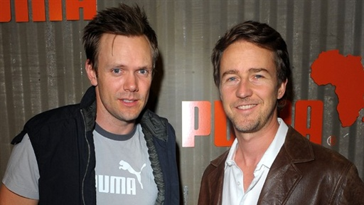 [Edward Norton and Joel McHale at PUMA's African Bazaar]
