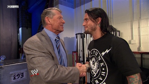 [Mr. McMahon and CM Punk Talk]