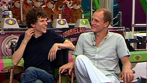 Woody Harrelson and Jesse Eisenberg Have a Blast On 'Zombieland' Video