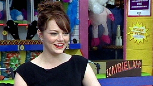 Emma Stone Gleefully Takes On the Walking Dead in 'Zombieland' Video