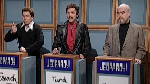 [Celebrity Jeopardy: Stewart, Reynolds and Connery]