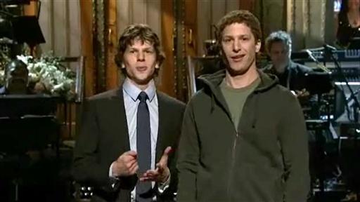 Mark Zuckerberg Meets Jesse Eisenberg on SNL