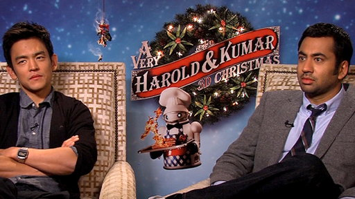 [Kal Penn & John Cho Talk 3D Nudity in 'A Very Harold & Kumar 3D]