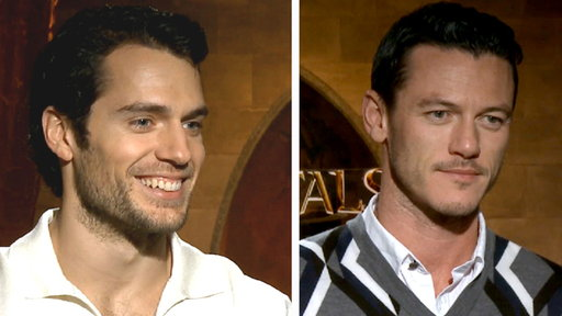 How Did Henry Cavill & Luke Evans Bulk Up For 'Immortals'? Video