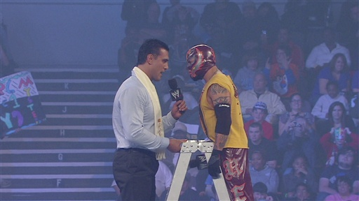 [Rey Mysterio and Alberto Del Rio Confront One Another]