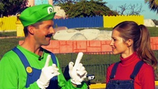 Real Life Mario Kart With Candace Bailey view on break.com tube online.