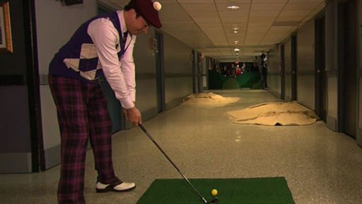 Hallway Golf With Samuel L. Jackson, Part 1 Video