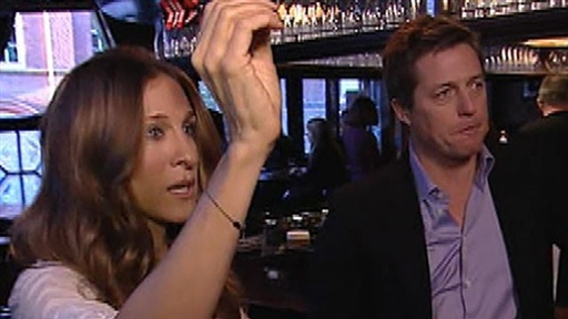 [Sarah Jessica Parker & Hugh Grant Battle Billy Bush in a Game of]