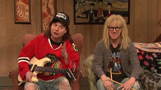[Wayne's World Cold Open]