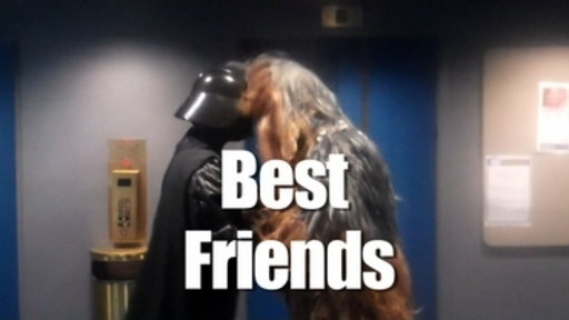 [Best Friends: Darth Vadar and Chewbacca]