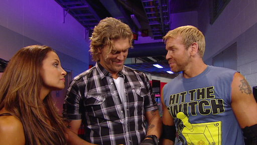 [Christian Runs Into Trish Stratus and Edge Backstage]