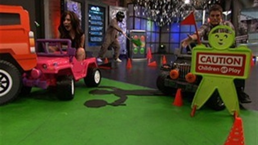 [Kevin and Alessandra's Big Wheels Race-Off]
