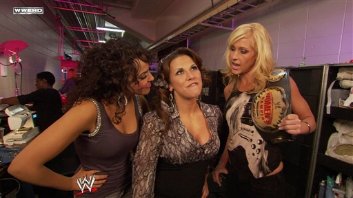 Womens Champion Michelle McCool and Layla Talk to Mickie James Video
