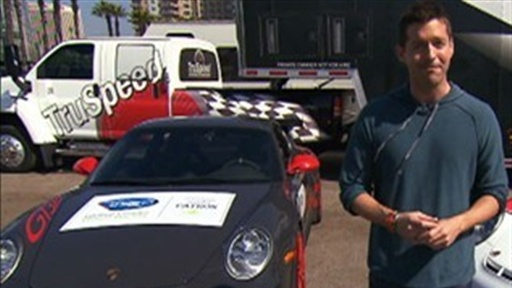 [Porsche Racing On the Long Beach Grand Prix Circuit]