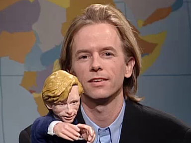 [Hollywood Minute with David Spade's Puppet]