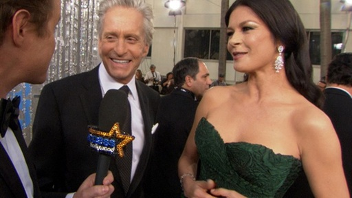 2011 Golden Globes: Michael Douglas Came to &#39;Smell the Roses&#39; No Video