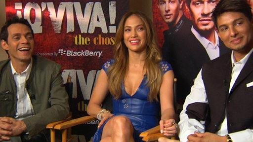 Jennifer Lopez, Marc Anthony & Jamie King Talk 'Q'Viva! the Chos Video