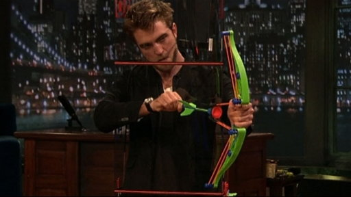 [Bow and Arrow Darts With Robert Pattinson]