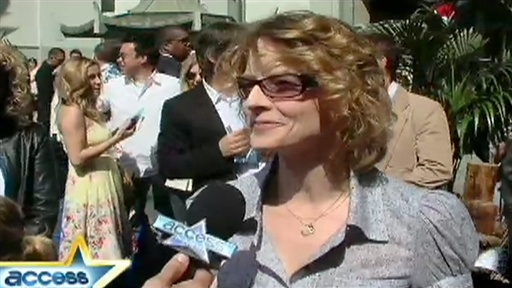 "[Jodie Foster on ""Nim's Island"" Blue Carpet]"