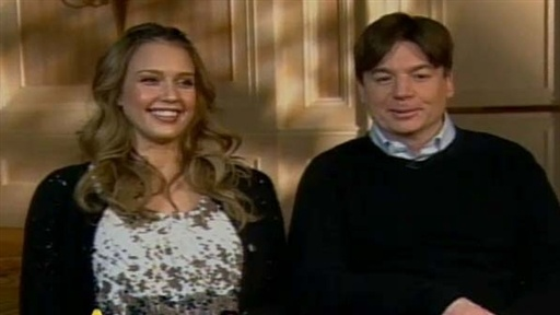 "Jessica Alba, Mike Myers on ""The Love Guru"" Video"