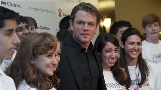 [Save the Children Honors Matt Damon]
