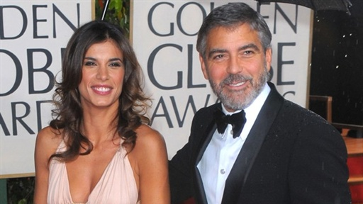[2010 Golden Globes Red Carpet: George Clooney & Elisabetta Canal]