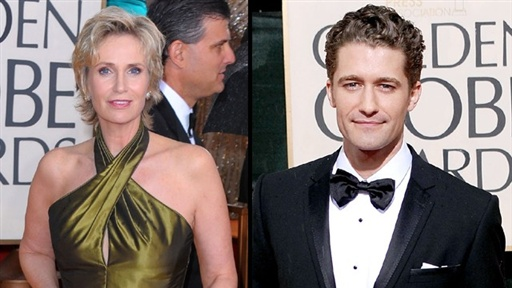 2010 Golden Globes Red Carpet: 'Glee' Part 1, Jane Lynch and Mat Video