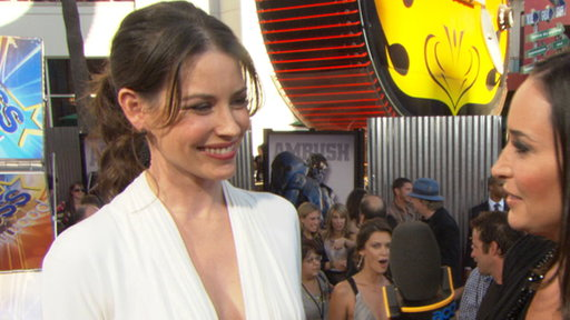 Evangeline Lilly's 'Real Steel' Premiere Video