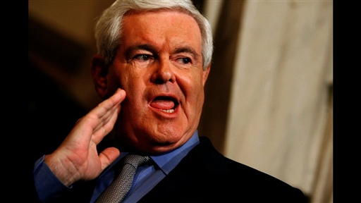newt gingrich young. Newt Gingrich Gets Glittered