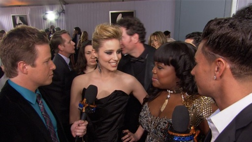 [2011 Grammy Awards: Dianna Agron & Amber Riley Are Goo Goo for G]