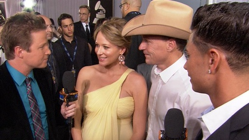 2011 Grammy Awards: Jewel Shows Off Her Baby Bump Video