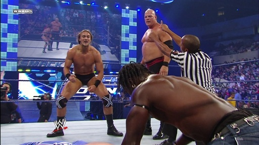[Matt Hardy and R-Truth Vs. Drew McIntyre and Kane]