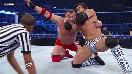 Santino Marella & Vladimir Kozlov Vs. Justin Gabriel & Heath Sla Video