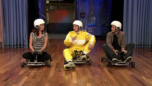 [Bumper Car Race: Ashley Vs. Jimmie Vs. Jimmy]