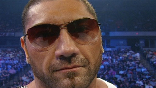[Batista Threatens Shawn Michaels]