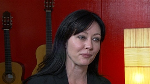 Description: Access visits Shannen Doherty as she rehearses for