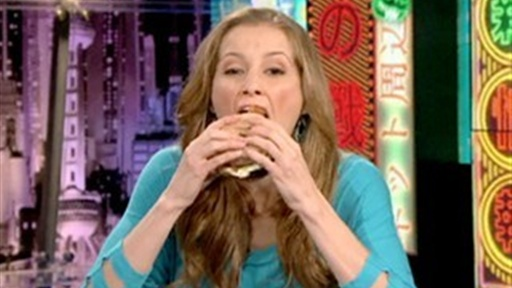 Candace Eats a Donut Hamburger Video
