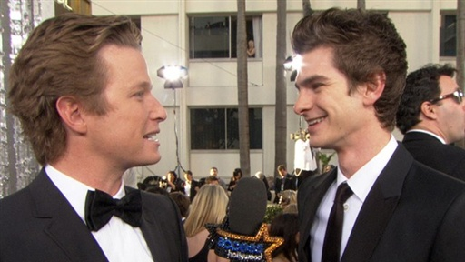 2011 Golden Globes: Andrew Garfield Reacts to His First 'Spider- Video