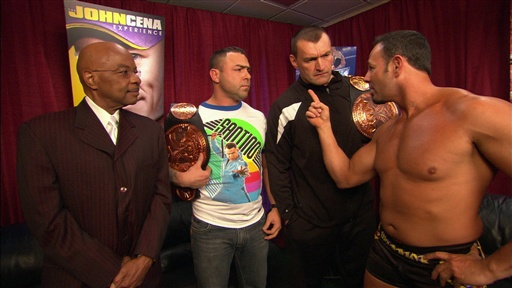 [Santino Marella and Vladimir Kozlov Talk to SmackDown General Ma]