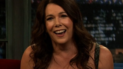 Description: Lauren Graham and Jimmy pair up with studio audience members ...