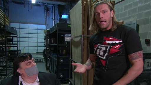 [Edge Continues the Taunting of His WWE TLC Opponent, Kane]