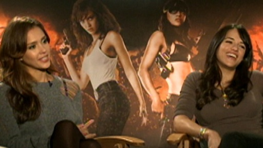 Jessica Alba & Michelle Rodriguez Kick Butt in 'Machete' Video